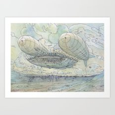 Il Tappeto Volante Art Print