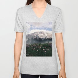 Mt Rainier Unisex V-Neck