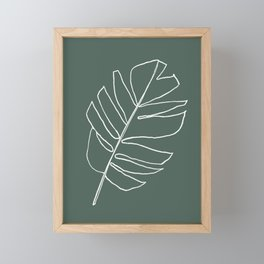 Monstera Leaf Drawing Framed Mini Art Print