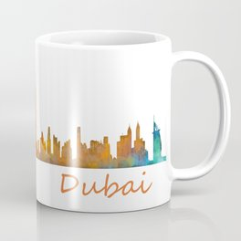 Dubai, emirates, City Cityscape Skyline watercolor art v1 Coffee Mug