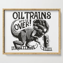 Oil Trains Serving Tray
