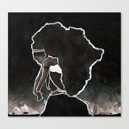 Africa Thinking Canvas Print