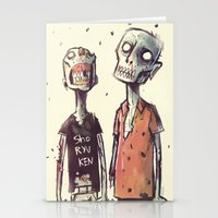 zombies Stationery Cards featuring Zombies! by Peerro