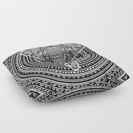 Polynesian Elephant Floor Pillow