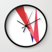 bowie Wall Clocks featuring Bowie by Paola Fischer