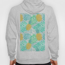 Tropical Pineapple and Leaf Pattern Hoody