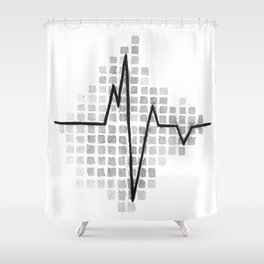 All we Have is Now EKG Shower Curtain