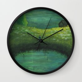 Techie in Paradise Wall Clock