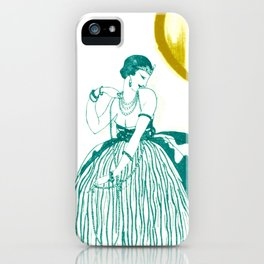 Vintage Fashionable Art Deco Woman with Jewelry iPhone Case