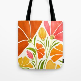 Spring Wildflowers / Floral Illustration Tote Bag