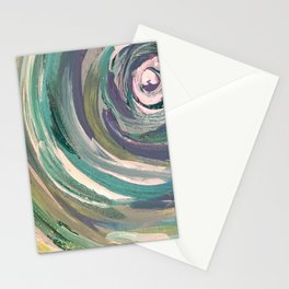 Teal Swirl Stationery Cards
