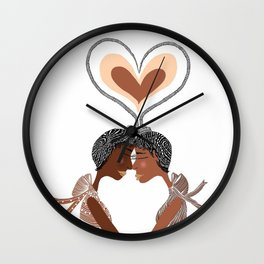 Love Braids Wall Clock