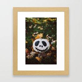 Jack Skeleton Pumpkin Framed Art Print