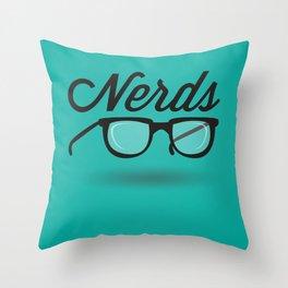 Get your nerd on Throw Pillow