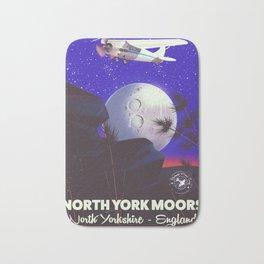 North York Moors Vintage travel poster Bath Mat