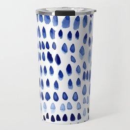 painted dots blue Travel Mug