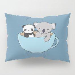 Kawaii Cute Koala and Panda Pillow Sham