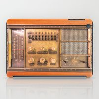 transistor iPad Cases featuring Vintage Wall Radio by jculver