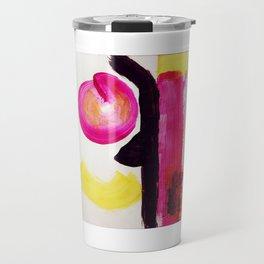 Neon Abstract Travel Mug