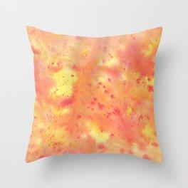 Warm tones watercolor Throw Pillow