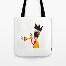 Trumpet Homage to Basquiat Tote Bag