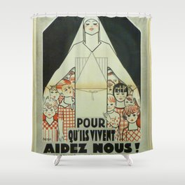Vintage poster - Musee des Instruments de Medecine Shower Curtain