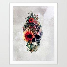 Two Face Skull Art Print