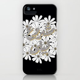 Mashrou' Leila Band Floral Logo iPhone Case
