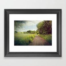 Follow the Farm Road Framed Art Print