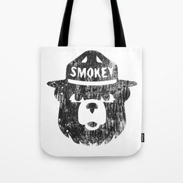 Smokey Bear Distressed Logo Tote Bag