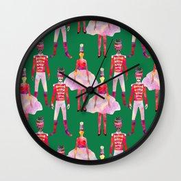 Nutcracker Ballet - Green  Wall Clock