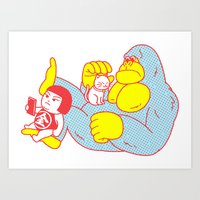 relax Art Prints featuring Relax by Kimiaki Yaegashi