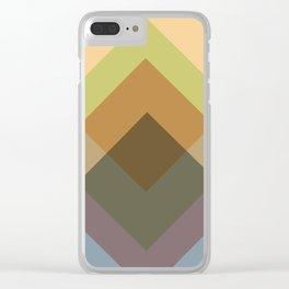 Mid Century Oblique Geometric Squares Clear iPhone Case