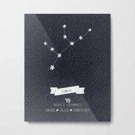 Virgo Constellation Print Metal Print