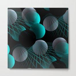 crazy lines and balls -5- Metal Print