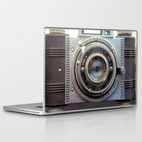 aperture Laptop & iPad Skins featuring Detrola (Vintage Camera) by RichCaspian