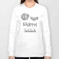 woodstock Long Sleeve T-shirts featuring Earth mama by daniroxanne