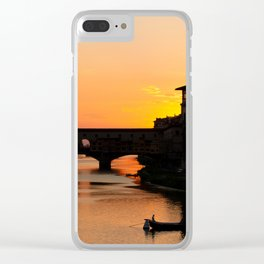 Travel Photography: Sunset Over Arno Clear iPhone Case