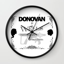 Donovan & Wells Wall Clock
