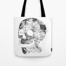 Skull Wanderlust Black and White Tote Bag