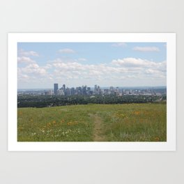 View of Calgary from Nosehill Art Print