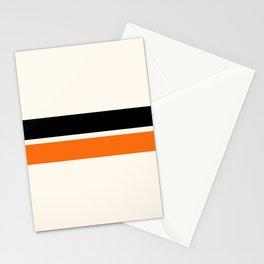 2 Stripes Black Orange Stationery Cards