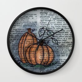 Pumpkin Pals Wall Clock