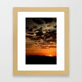 Ending of the Day Framed Art Print