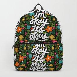 I'm okay. It's okay. Backpack