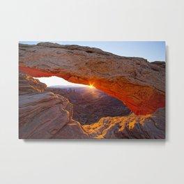 Mesa Arch Sunburst Metal Print