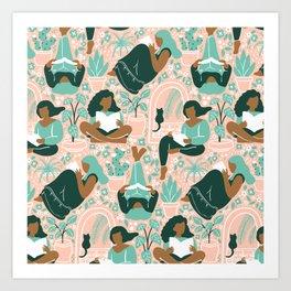 Women Readers - Pattern Art Print