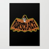 rorschach Canvas Prints featuring Rorschach by Buby87
