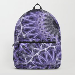 Violet and white mandala Backpack