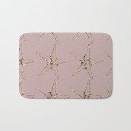 Rose gold starfish Bath Mat